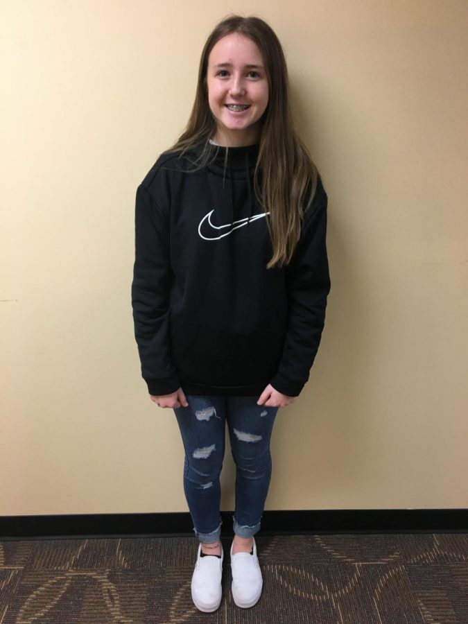 Bailey Bohon (9) was chosen as The Spotlight student for the week of Jan. 28.