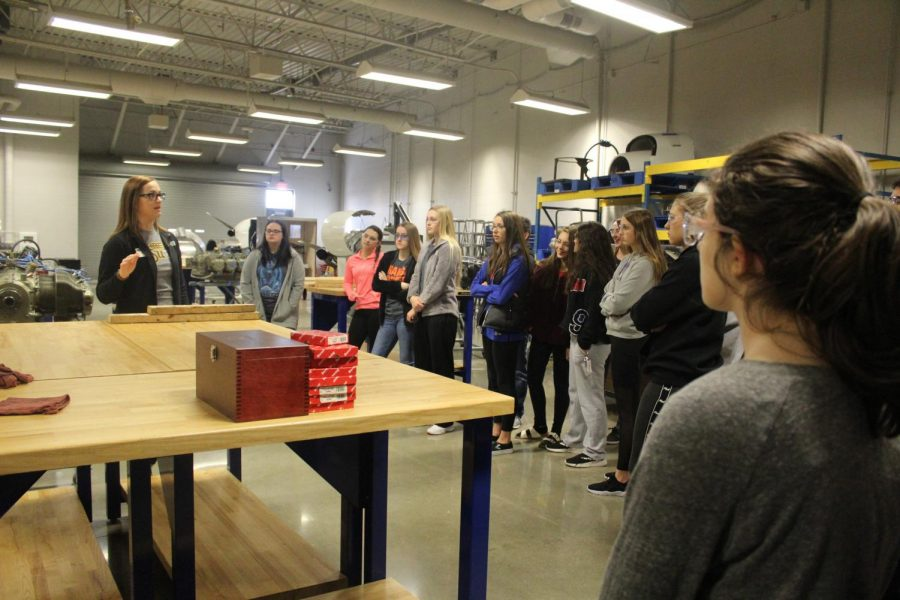 Sophomores tour WSU Tech's campus to explore classes offered to high school juniors and seniors. A total of four different sophomore groups toured WSU Tech Feb. 13 and 14.