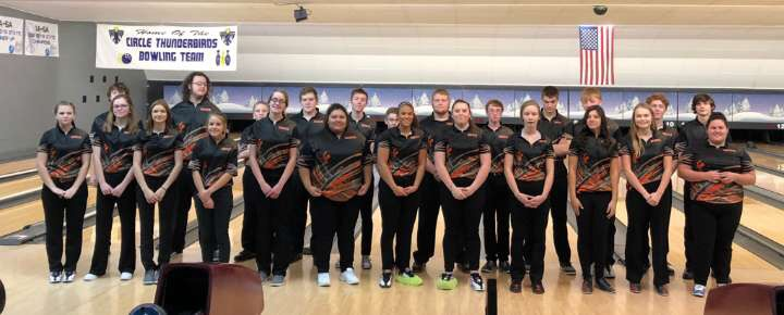 Bowling team lines up for a picture after they finish their meet. The team competed in El Dorado Jan. 15.