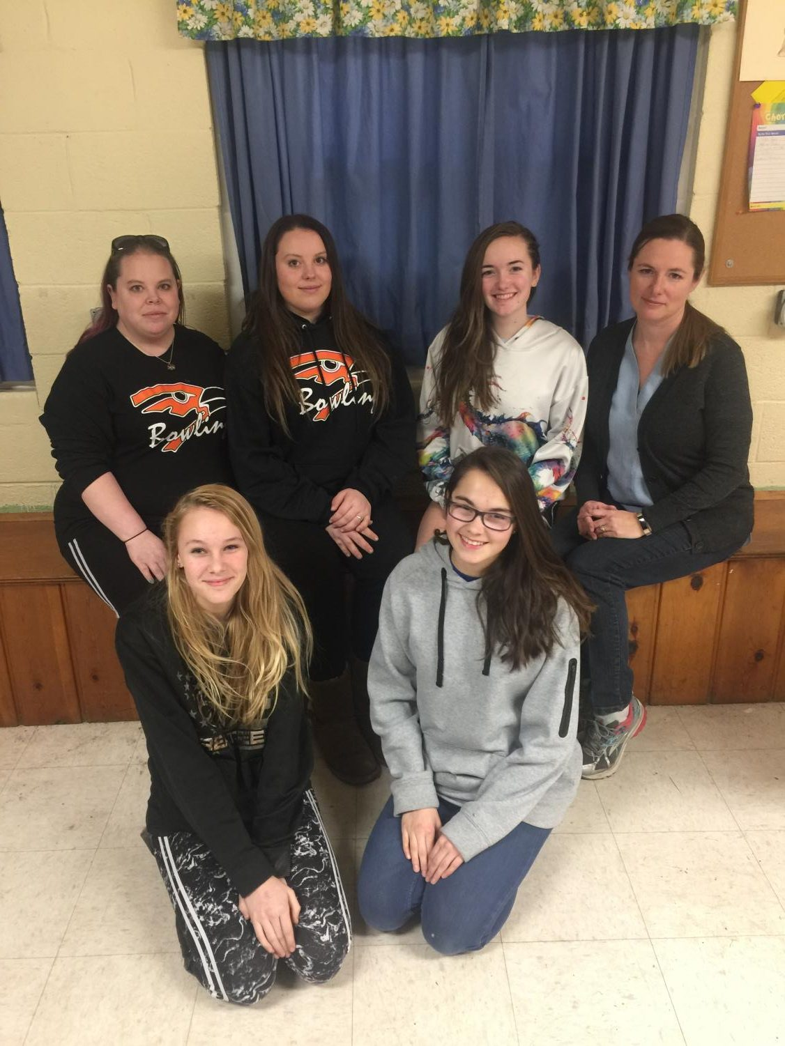 Girl Scout Troop 40326 takes a picture at their weekly meeting Tuesday, Feb. 12. All of the girls in the troop were freshmen in high school.
