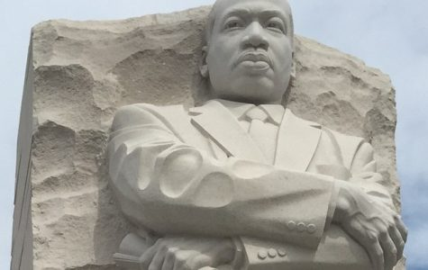 Martin Luther King's memorial statue stands tall and strong in the West Potomac Park in Washington D.C. The Statue is named