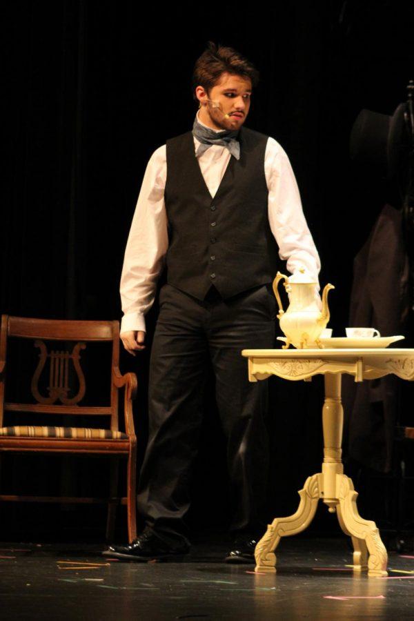 Noah Rye (10) plays as Edgar Allen Poe in the Tell Tale play.