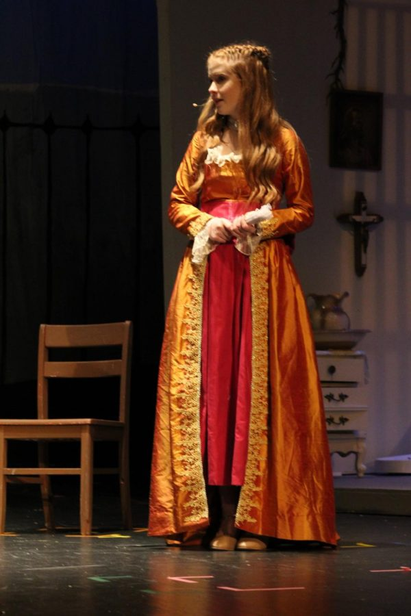 Ariana Ramseyer (9) plays as Fanny in the play. She is a friend of Edgar Allen Poe.