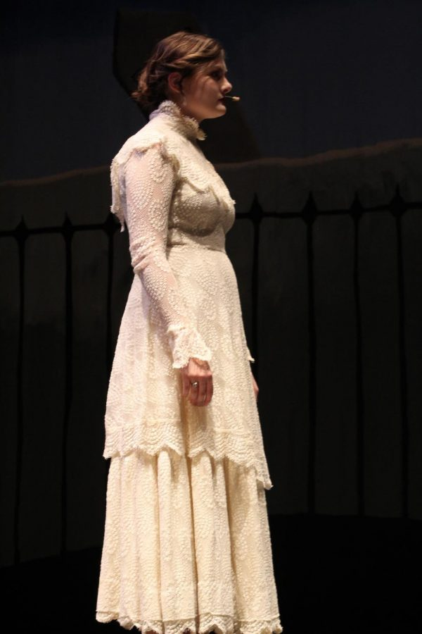 Samantha Dudeck (11) plays as Virginia Poe in the Tell Tale Play.