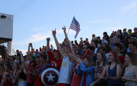 Students show their school spirit by going all out for the first home football game of the year on Sept. 13. The O's Zone theme was American Night.