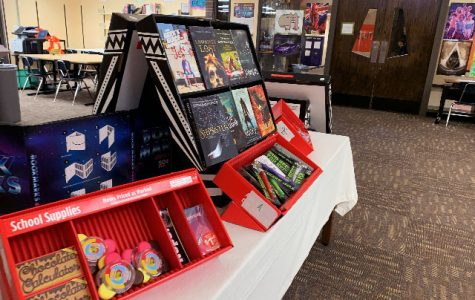 Books, erasers, pencils and other items were sold during the book fair. The unsold products get returned to Scholastic.