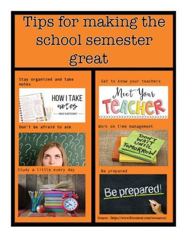 Second semester success requires organization
