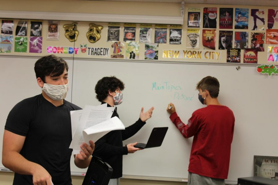 Brayden Sparks, Chance Kohls, and Holt Williams go over evidnece for this years debate topic.
