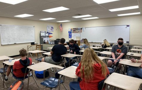 World History teacher Ryan Petty's CAPPS class waits for the bell to ring. During CAPPS Oct. 7 the teachers learned more about their students. CAPPS is every Wednesday this year.