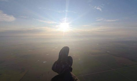 Kevin William experiences a beautiful evening flight in Augusta. William once flew halfway across the state of Kansas with a goal of flying across the whole state but had to land early due to weather conditions changing.
