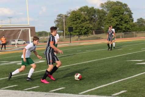 Sophomore Jacob Wignall and the rest of the soccer team played Thursday Sept. 15 against Mulvane at 5 p.m. JV won and varsity won.