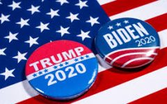 Our two candidates for the 2020 presidential election were Republican incumbent Donald Trump and Democrate Joe Biden. Pins were made for each candidate to represent themselves in their campaigning session.