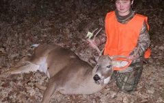 Last deer season, junior Hunter Levings shot a 10 point buck. After Levings is finished hunting, he takes the bucks home, keeps the horns and prepares the meat to be eaten.