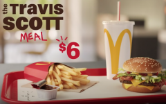 This is the ad picture of the Travis Scott Meal, which shows what he likes to order at McDonald's.  Travis Scott Burger was a limited item on the McDonald's menu.
