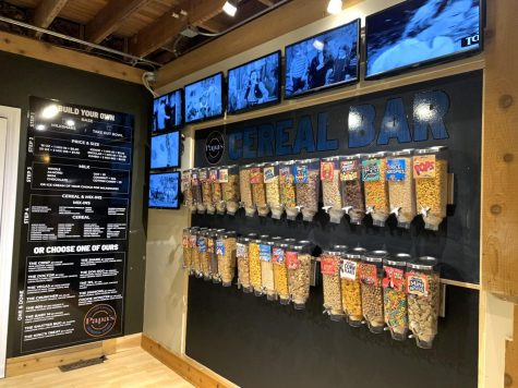 Papa's General Store now offers a cereal bar with more than 30 types of different cereals. Customers have a choice between a milkshake and a take out bowl of cereal.