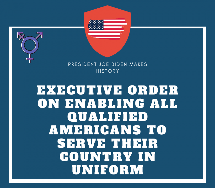 """President Joe Biden repeals former President Donald Trump's military ban.  The signing of the executive order took place Jan. 25, 2021.  """"It is my conviction as Commander in Chief of the Armed Forces that gender identity should not be a bar to military service.  Moreover, there is substantial evidence that allowing transgender individuals to serve in the military does not have any meaningful negative impact on the Armed Forces,"""" Biden said in the executive order."""