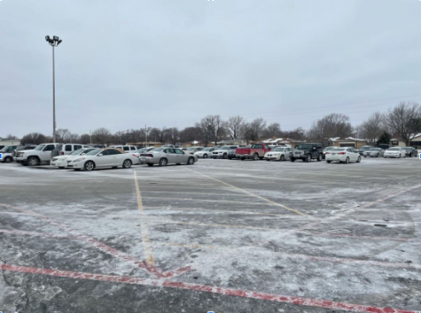This is only half of the parking lot, and it