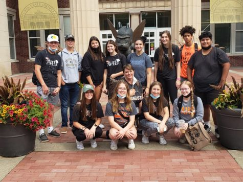 The junior AVID class visits Emporia State University. The juniors met with admission staff and discussed admission and financial aid